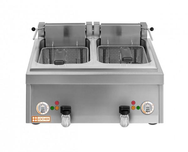LOCHER Tisch-Fritteuse 2 x 12 Liter, 16 kW 216503 by BERNER vergleichbar BF2KTT