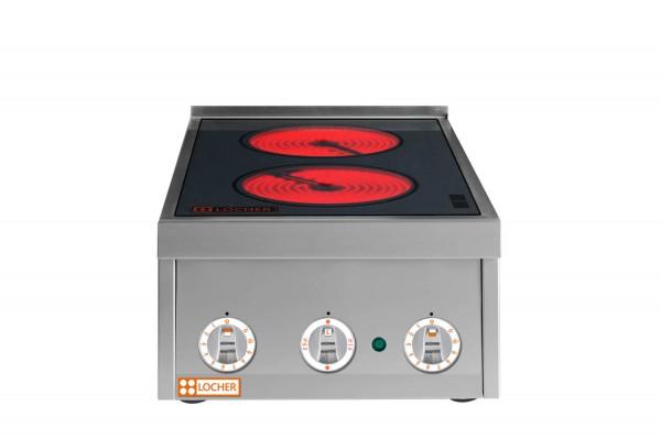 LOCHER Cerankochfeld 216301 2 Kochstellen mit elektronischer Topferkennung by BERNER vergleichbar BS